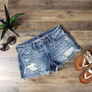 Abercrombie & Fitch Distressed Vintage Wash Shorts